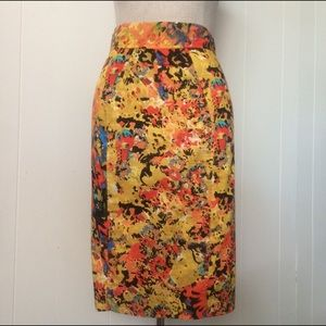 Tracy Reese Abstract Art Pencil Skirt